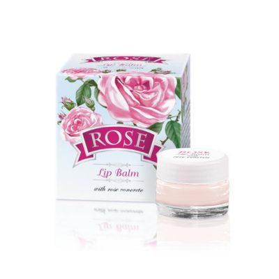 Balzam za ustnice z naravnim oljem vrtnice in D-pantenolom